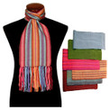 "Alpaca 100% Woven Scarf Striped - Small 8"" x 68"" Assortment"