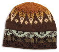 Earth Tones Adult Alpaca Blend Geometric Beanie Knit