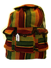 Assorted striped Pattern Full Size Adult Cotton Backpack