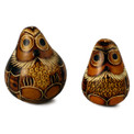 Gourd Carved Sitting Owl Small Carving Assortment  3""