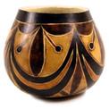 """Gourd Bowl - Geometric 5"""" Designs Classic Peru"""