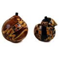 "Gourd Box - Lizard/Geometric 5"" Carving"