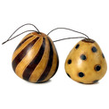 Gourd Harlequin Ornament Natural Shades