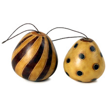 Gourd Harlequin Ornament Natural Shades