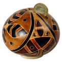 Gourd Bank Artisan Hand Carved Assorted Designs 5""