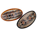 Gourd Hand Carved Geometric Hair Barrette
