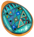 "Ocarina Whistle 3"" Geometric Pisac Patterns"