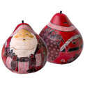 Gourd Santa Box in Assorted Colors 5""