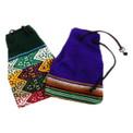 Manta Medicine Bag Hand Woven Cotton Lined