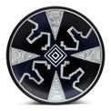 Spiral Mimbres Plate - Navy