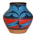 """Southwest Vase jug  10"""" - Turquoise"""