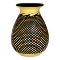 Tiled Vase, bulb - Cream