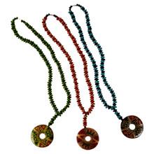 Clay Doughnut Beaded Necklace