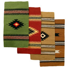 """Table Mats 10"""" x 24"""" 100% Wool Hand Loomed Assorted Natural Dye Colors"""
