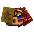 "100% Wool 12"" x 16"" Place Mats in Assorted Designs and Colors Hand Made"