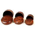 Leather 3-in-1 Box - Round