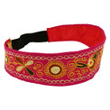 Cotton Embroidered Headband Adjustable Peru Fair Trade Assorted Colors (230)