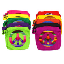 Cotton Peace Tote Bag Zippered 10 Colors