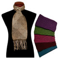 Alpaca 100% Vertical Striped Scarf