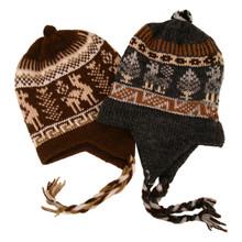 Alpaca Blend Child Chullo Hat Hand Knit Peru