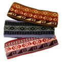Alpaca Blend Headband Assortment Geometric Patterns Adjustable Size