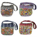 Floral Decorated Bag with  Lined Interior and Sturdy Strap Assortment
