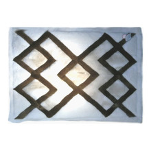 "Alpaca Fur Rug - Design 38 Five Diamonds Zippered Pillow Case 22"" x 32"""