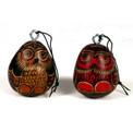 Gourd Owl Ornament Hand Carved Peru Artisans