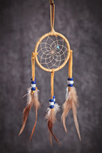 """2"""" Dream Catcher in Assorted Colors Natural Materials"""