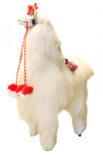 "100% alpaca natural fur artisan produced plush doll 9"" Peru (15)"