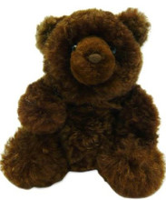 Brown Plush Alpaca Fur Teddy Bear 15""
