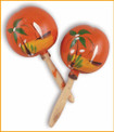 Traditional colorful crisp sound pair maracas 8""