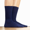 Alpaca Knit Crew Socks Navy Blue