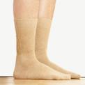 Alpaca Knit Crew Socks Beige