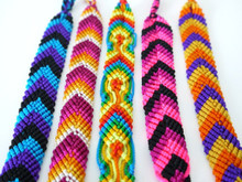 """Wide Hand Woven Bracelets Package of 50 Lot Assorted 9"""""""
