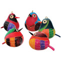 Assortment of Colorful Birds with Beak & Tail Ornaments 3""