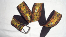 """Embroidered Colca Belt Assorted Colors 40"""""""