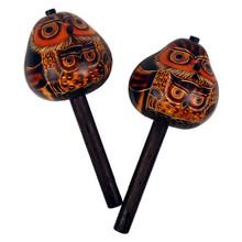 "Gourd Owl Stick maraca Singles 7"" UPC 852682990021 (350)"