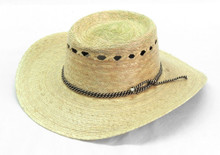 Shady Straw Hat with Tall Crown Vented Adjustable Size