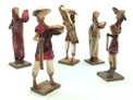 "10"" Tall Paper Mache Peasant Dolls Assortment"