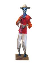 """Day of the Dead Paper Mache Decorative Doll 14"""""""