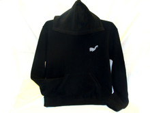 Alpaca Blend Hoodie Baja with Kangaroo Pockets Black (15)