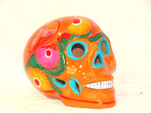 Painted Sugar Skull Double Glazed Fired Ceramics