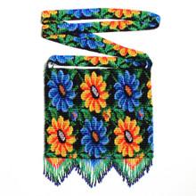 """Super Fine Fair Trade Premium Floral 8.5"""" x 8.5"""" Glass Beaded Purse BG156-011"""