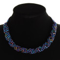 "Stranded DNA Beaded Necklace Blue Iris  18""  NE107-202"