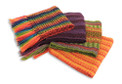 "Assorted Colors Woven Alpaca Scarf Geometric Patterns 8"" x 70"""