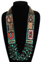 Six Navajo Rug Story Necklace - #201 Bronze, Magnetic Clasp! NE147-201