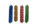Leopard Glass Seed Beads Assorted Bracelet with Magnetic Clasp