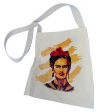 "Frida Kahlo Self Portrait Canvas Tote Bag 14"" x 16"" Hand Silksreened"