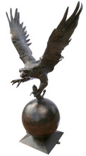 Eagle Lawn Art Sculpture Recycled Aluminum